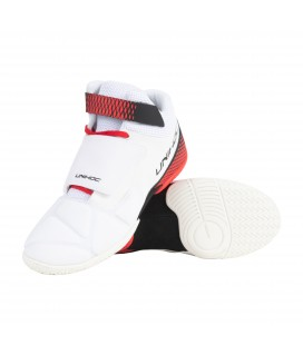 UNIHOC SHOES U4 GOALIE White/RED